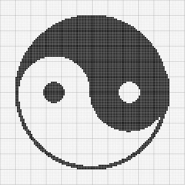 Free Crochet Pattern Yin Yang : Angels Crochet - Charts & Graphs Patterns